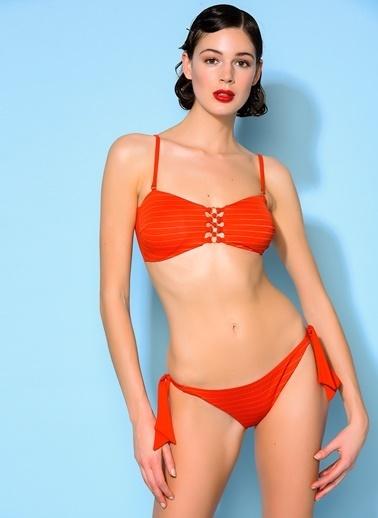 Loves You Göğüs Detaylı Bikini Takım Kırmızı